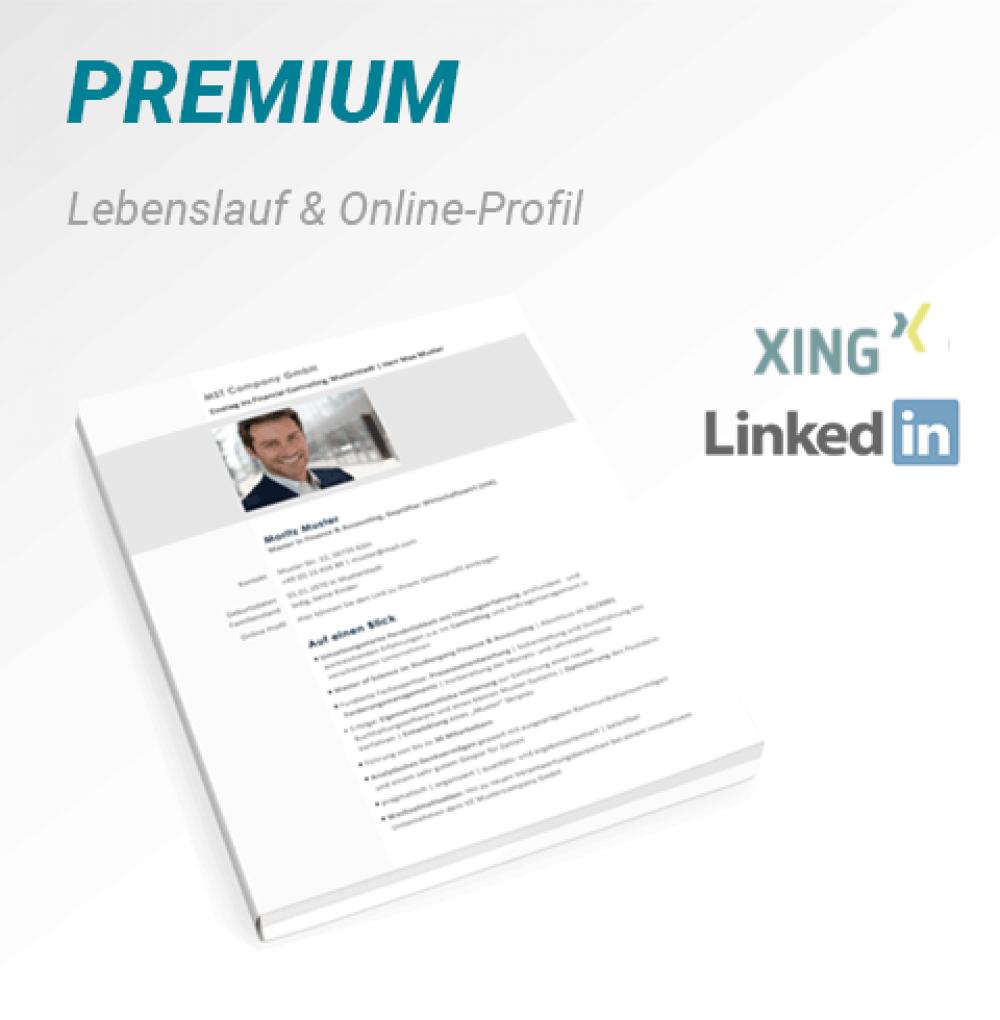 Social-Paket: Lebenslauf + Online-Profil